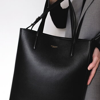 ANN LARGE - GRAINED LEATHER - BLACK