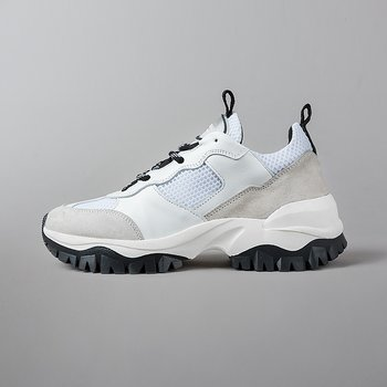 TREKK RUN MEN - MESH / SUEDE / LEATHER - WHITE