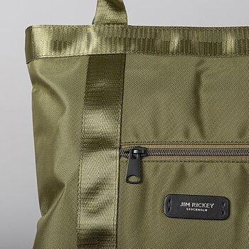 THE CITY TOTE - WATERPROOF NYLON - ARMY