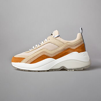 FLOMO RUNNER - MESH / SUEDE / LEATHER - YELLOW / BEIGE