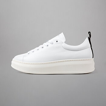 CLUB TECH - FLAT LEATHER - WHITE/BLACK