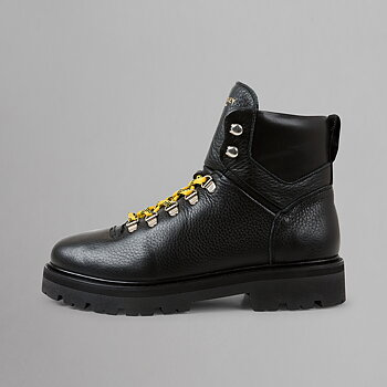 CLOUD BOOT HIKING WMN - GRAINED LEATHER - BLACK