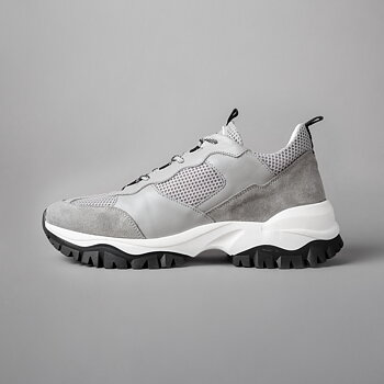 TREKK RUN WMN - MESH / SUEDE / LEATHER - GREY