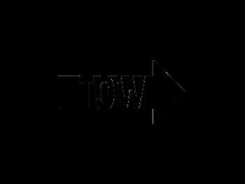 "Dekal ""TOW"" 15cm Höger."