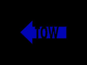 "Dekal ""TOW"" 15cm Vänster."