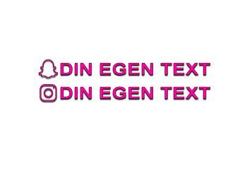 Dekal Snapchat & Instagram 25cm EGEN TEXT