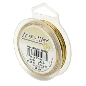 18 gauge non tarnish mässing artistic wire.