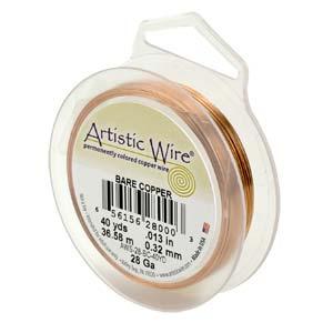 18 gauge non tarnish koppar artistic wire.