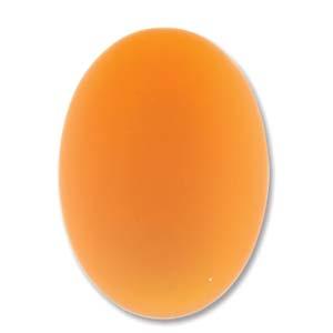 Lunasoft oval cab i färgen mango, 18,5*13,5 mm.