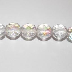 Fasetter i crystal AB, 10 mm. Ca 12 cm sträng.