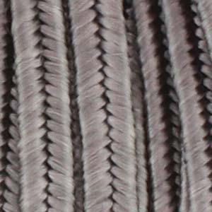 Soutache band, grå. 2 meter