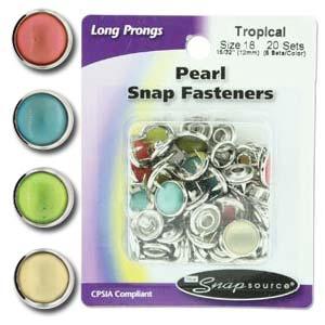 Tryckknappar i tropiska färger, storlek 18
