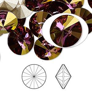Swarowski Rivoli 12 mm, Crystal Lilac Shadow
