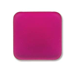 Lunasoft fyrkantig cab i starkt rosa, 17 mm.