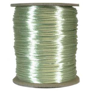 Mintgrönt satinband, 2 mm. En meter.