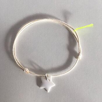 Armband, essential, stjärna - ecru