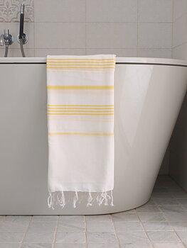 Hammam handduk - vit/gul
