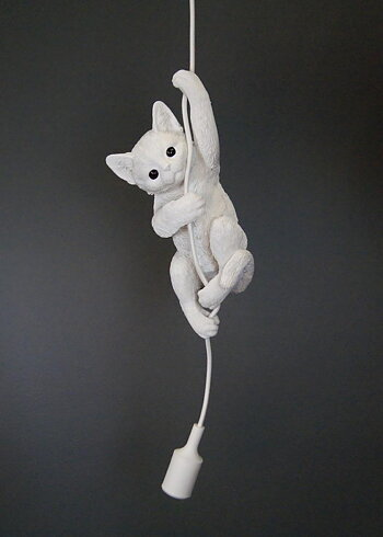Cat lamp white.