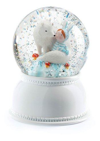 Nightlight/Snowglobe White Fox