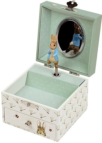 Cube shaped Music Box Peter Rabbit