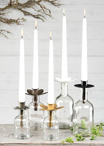 Ljushållare för flaskor, antik mässing