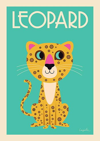 "Affisch Ingela P Arrhenius ""The Leopard"" 50x70 cm"