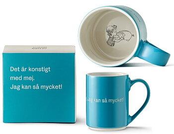 Astrid Lindgren Citat Mugg - Det är konstigt med mej. Jag kan så mycket!