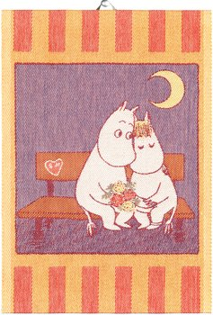 Moomin kitchen towel, Sweethearts