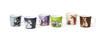 Arabia Number two Classic MINI Moomin Mugs - 6-pack