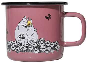 Moomin Enamel Mug, 3,7 dl - Retro - Together Forever