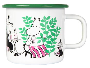 Moomin Enamel Mug 3,7 dl - Day in the garden