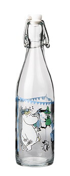 Moomin - Glass bottle with patent cork 0,5 l - Summerparty