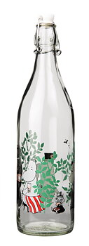 Moomin - Glass bottle with patent cork 1 L - Day in the garden