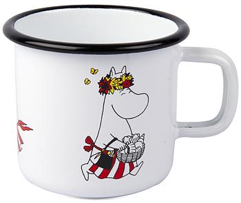 Moomin Enamel Mug, 3,7 dl - Retro - Moominmamma