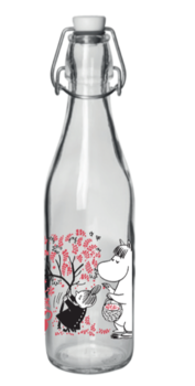 Moomin - Glass bottle with patent cork 0,5 l - Berries