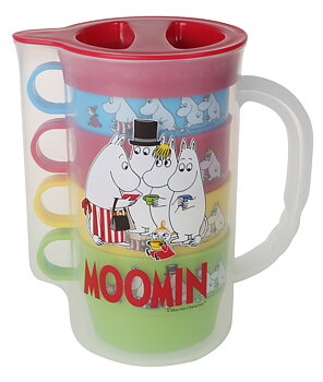 Moomin Picnic Pitcher (Including 4 mugs)