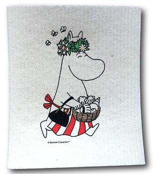 Moomin Dishcloth - Moominmamma Midsummer