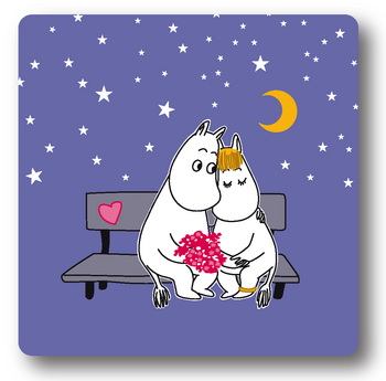 Moomin Glass coasters, Evening Love