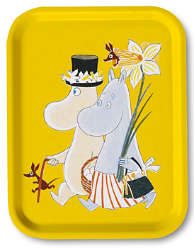 Moomin tray, Moomin Easter Yellow
