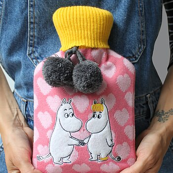 Moomin hot water bottle - Hearts