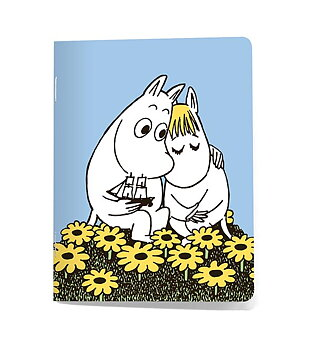 Momin Mini Note Book - Moomintroll & Snorkmaiden