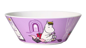 Arabia Moomin Bowl - Snorkmaiden purple