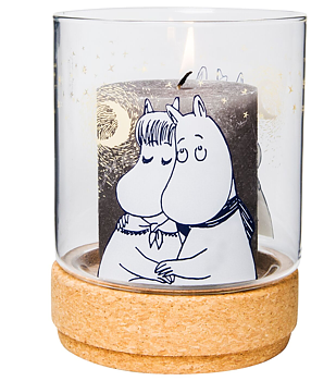 Moomin Glass Jar / Candleholder - Winter Romance