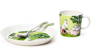 Package Price - Arabia - Moomin - Relaxed 2020 - Mug, plate + spoons