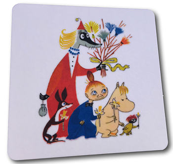 Moomin Glass coasters, Easter off white