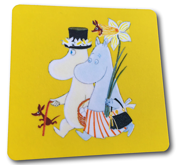 Moomin Glass coasters, Easter yellow