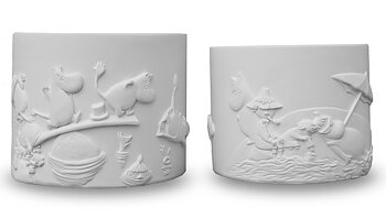 Moomin Flowerpot - Beach - 2 different sizes