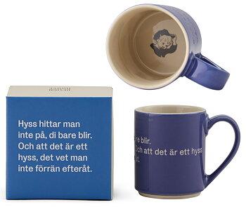 Astrid Lindgren Citat Mugg - Hyss hittar man inte på, di bare blir