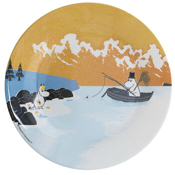 Moomin Plate, Forest & Lake (Orange)