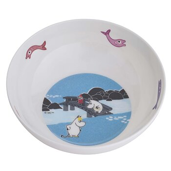 Moomin Bowl, Forest & Lake (Blue)